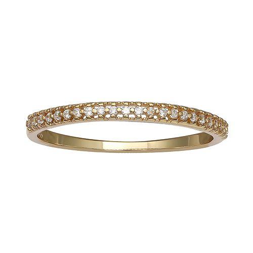 PRIMROSE 18k Gold Over Silver Cubic Zirconia Ring