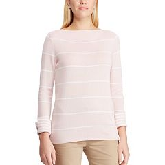 7d98e552b25ac Women s Chaps Striped Boatneck Top
