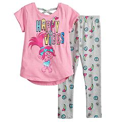 c15e389da Girls 4-6x DreamWorks Trolls Poppy Top & Leggings Set