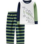 Toddler Boy Carter's 2-Piece Dinosaur Snug Fit Cotton & Fleece PJs