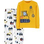 Toddler Boy Carter's 2-Piece Construction Snug Fit Cotton & Fleece PJs