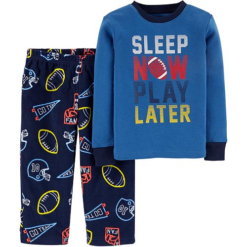 Toddler Boy Carter's 2-Piece Sports Snug Fit Cotton & Fleece PJs