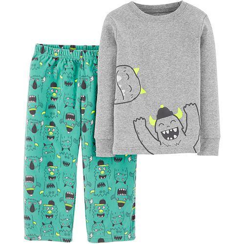 Toddler Boy Carter's 2-Piece Monster Snug Fit Cotton & Fleece PJs