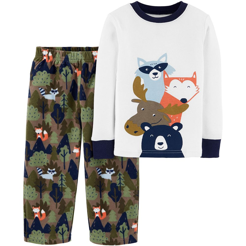 Toddler Boy Carter's 2-Piece Woodland Creatures Snug Fit Cotton & Fleece PJs