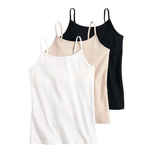 Girls 7-16 SO® 3-pack Cami Set