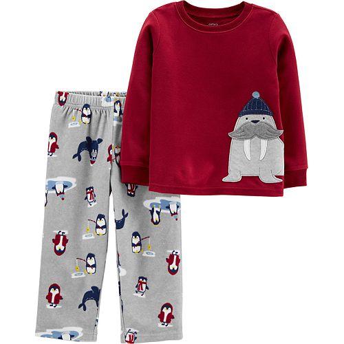 Toddler Boy Carter's 2-Piece Walrus Fleece PJs