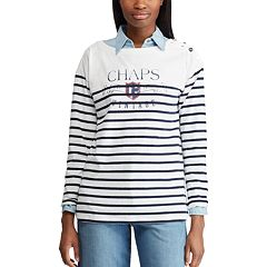 Women's Chaps Striped Graphic Top
