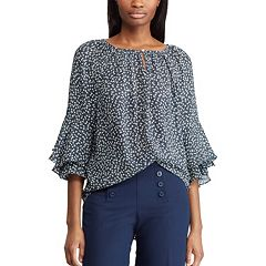 Women's Chaps Floral Tiered-Sleeve Top