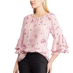 417d311330fc8 Women s Chaps Floral Tiered-Sleeve Top