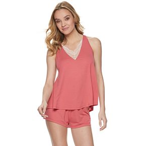 Women's Flora by Flora Nikrooz May Knit Cami & Pajama Shorts Set