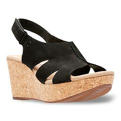 d1f272f0ee7ba8 Clarks Annadel Bari Women s Platform Wedge Sandals. Black Gold White Sand.  Regular.  95.00