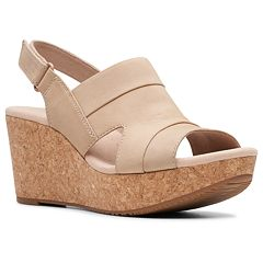 Clarks Annadel Ivory Women's Platform Wedge Sandals