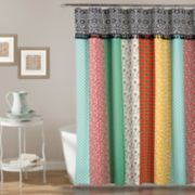 Lush Decor Boho Patch Shower Curtain