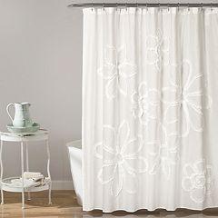 Lush Decor Ruffle Flower Shower Curtain