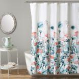 Lush Decor Zuri Flora Shower Curtain