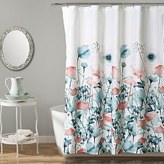 Lush Decor Zuri Flora Shower Curtain