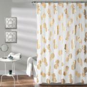 Lush Decor Pineapple Toss Shower Curtain