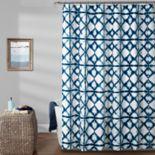 Lush Decor Geo Shibori Shower Curtain