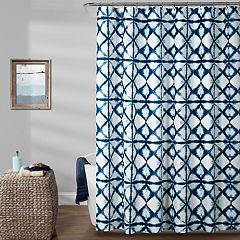 Lush Decor Geo Shibori Shower Curtain