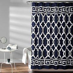 Lush Decor Maze Border Shower Curtain