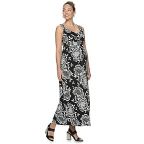 Maternity a:glow Knot-Front Maxi Dress