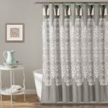 Lush Decor Mid Century Geo Shower Curtain