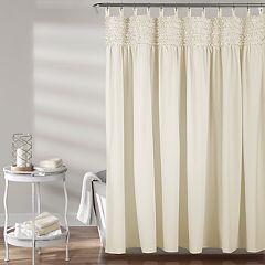 Lush Decor Lydia Ruffle Shower Curtain