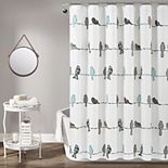 Lush Decor Rowley Birds Shower Curtain