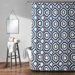 Lush Decor Octagon Blocks Shower Curtain
