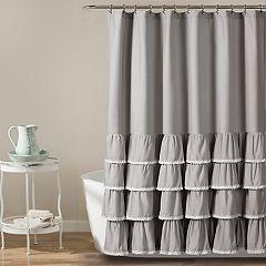 Lush Decor Ella Lace Ruffle Shower Curtain