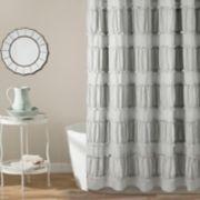 Lush Decor Nova Ruffle Shower Curtain