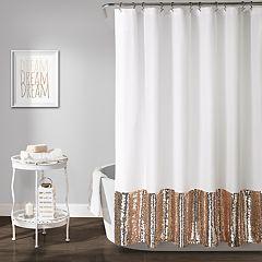 Lush Decor Mermaid Sequins Shower Curtain