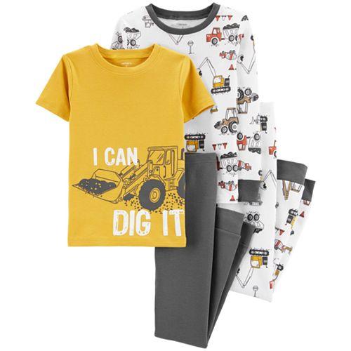 Boys 4-8 Carter's Dinosaur 4-Piece Pajama Set