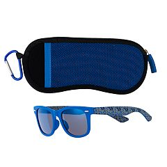 Boys 4-20 Pan Oceanic Blue Rimmed Sunglasses & Case