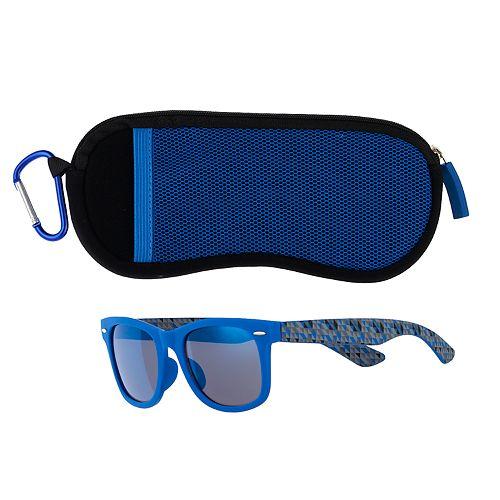 Boys 4-20 Pan Oceanic Blue Rimmed Sunglasses & Case