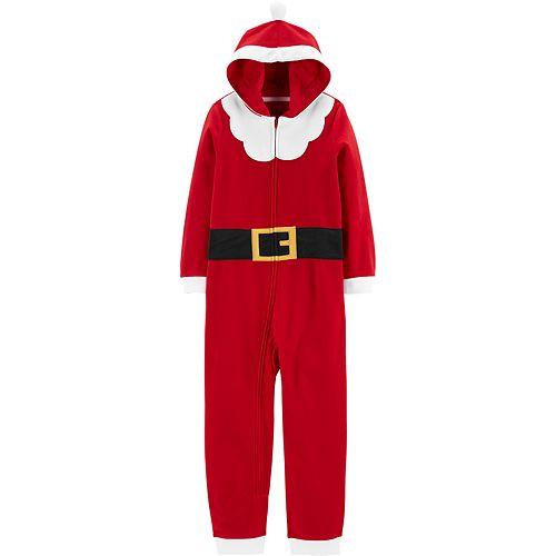 Boys 4-8 Carter's Hooded Fleece Footless Pajamas