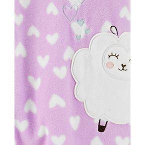Toddler Girl Carter's 1-Piece Sheep Fleece Footie PJs