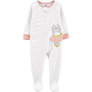 Toddler Girl Carter's 1-Piece Ballerina Sloth Fleece Footie PJs