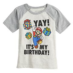 Boys 4-12 Jumping Beans® Super Mario Bros. 'Yay! It's My Birthday!' Raglan Graphic Tee
