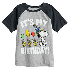 Boys 4-12 Jumping Beans® Peanuts Snoopy 'It's My Birthday!' Raglan Graphic Tee