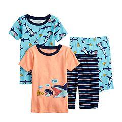 Boys 5-8 Carter's Shark 4-Piece Pajama Set