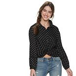 Juniors' American Rag Twist Front Blouse