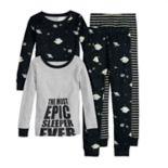 Boys 4-12 Carter's Printed 4-Piece Pajama Set