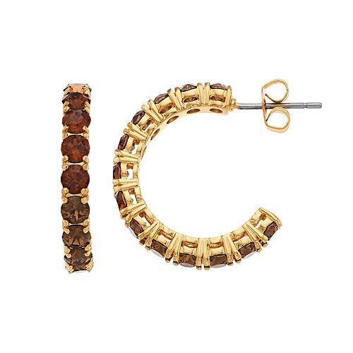 Rhode & Co. Crystal C-Hoop Earrings