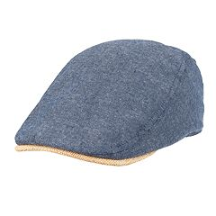 cfcc1af1cf1 Men s Dockers Chambray Flat Top Ivy Cap with Straw Brim
