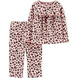 Toddler Girl Carter's 2-Piece Leopard Print Fleece PJs
