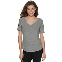 2f5f5290b8b463 Top. Women s Jennifer Lopez Ring-Sleeve Tee