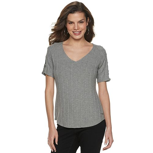 Women's Jennifer Lopez Ring-Sleeve Tee