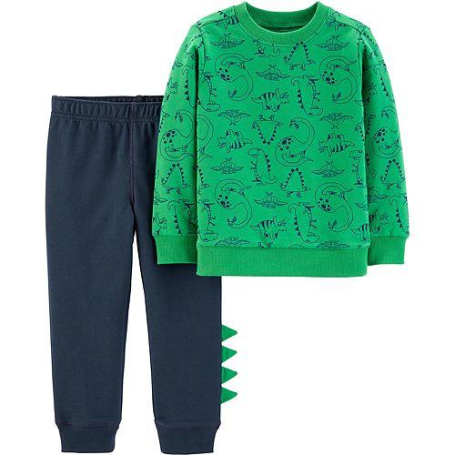 Baby Boy Carter's 2-Piece Dinosaur Pullover & Jogger Set