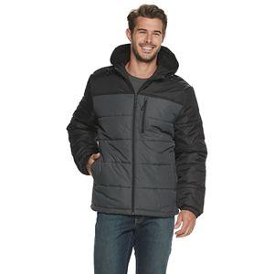 London London Fog Mens Quilted 3-in-1 Fleece Jacket Vest